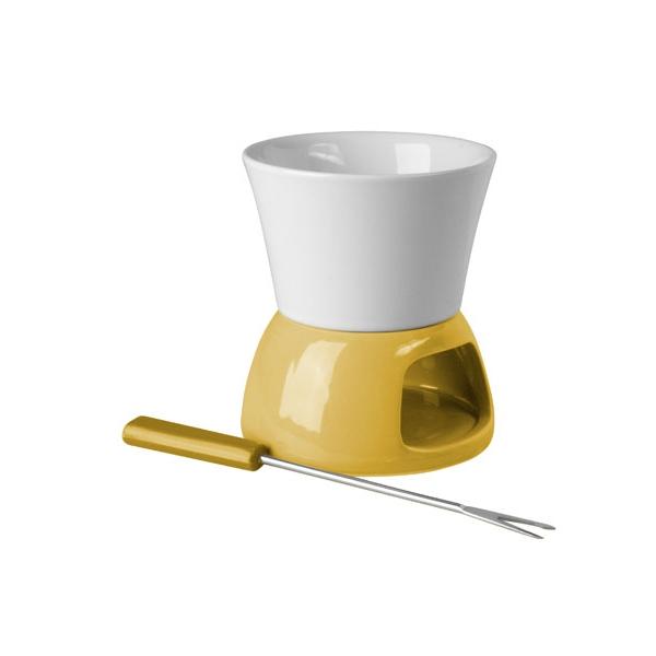 Žluté mini fondue - čoko
