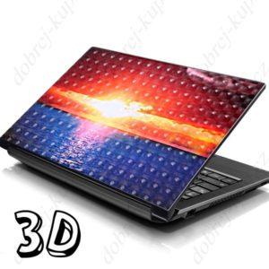 Dekorativní samolepící tapeta na notebook - ZÁPAD SLUNCE 3D