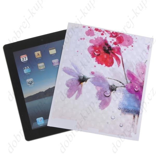 SKINS: Dekorativní samolepící tapeta pro iPad- květiny