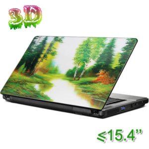 Dekorativní samolepící tapeta na notebook - Krajina 3D