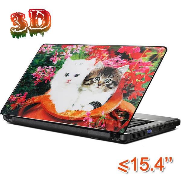 Dekorativní samolepící tapeta na notebook - Koťata 3D
