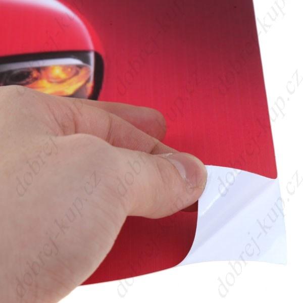 Dekorativní samolepící tapeta na notebook - Auto II - červené