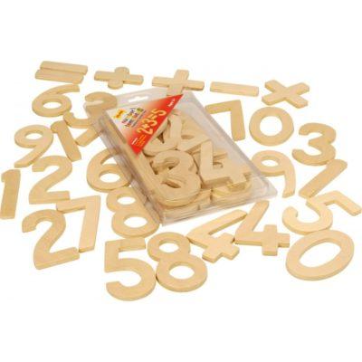Bigjigs: Dřevěné hračky - Školní pomůcky - Číslice a počítání