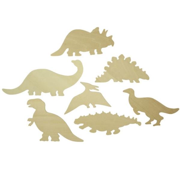 BIGJIGS: Dřevěné obkreslovací vzory - Obrázky dinosaurů - Dinosaurs